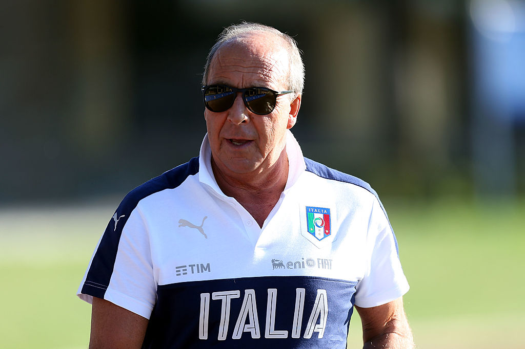 FLORENCE, ITALY - OCTOBER 05: Giampiero Ventura manager of Italy during the training session at Coverciano on October 5, 2016 in Florence, Italy.  (Photo by Gabriele Maltinti/Getty Images)