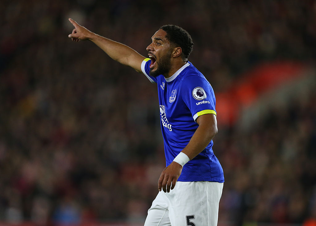 SOUTHAMPTON, ENGLAND - NOVEMBER 27: Ashley Williams of Everton during the Premier League match between Southampton and Everton at St Mary's Stadium on November 27, 2016 in Southampton, England. (Photo by Catherine Ivill - AMA/Getty Images)