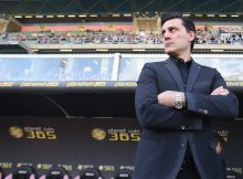 PALERMO, ITALY - NOVEMBER 06: Head coach of Milan Vincenzo Montella during the Serie A match between US Citta di Palermo and AC Milan at Stadio Renzo Barbera on November 6, 2016 in Palermo, Italy.  (Photo by Maurizio Lagana/Getty Images)