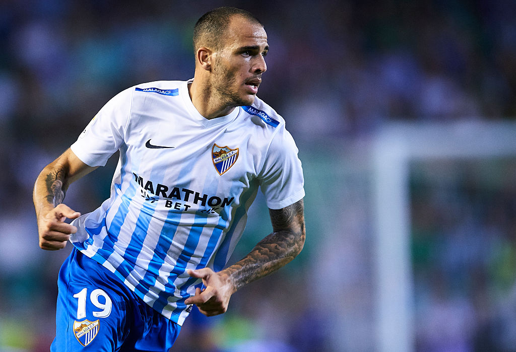SEVILLE, SPAIN - SEPTEMBER 23:  Sandro Ramirez of Malaga CF in action during the match between Real Betis Balompie vs Malaga CF as part of La Liga at Benito Villamarin stadium on September 23, 2016 in Seville, Spain.  (Photo by Aitor Alcalde Colomer/Getty Images)