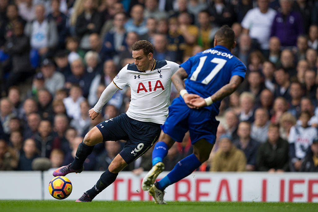 LONDON, ENGLAND - OCTOBER 29: Tottenham Hotspur's Vincent Janssen in action during the Premier League match between Tottenham Hotspur and Leicester City at White Hart Lane on October 29, 2016 in London, England. (Photo by Craig Mercer - CameraSport via Getty Images)