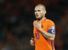 Wesley Sneijder of Hollandduring the FIFA World Cup 2018 qualifying match between Netherlands and Belarus at the Kuip on October 07, 2016 in Rotterdam, The Netherlands(Photo by VI Images via Getty Images)