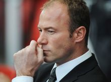 STOKE, UNITED KINGDOM - APRIL 11:  Alan Shearer interim manager of Newcastle United looks thoughtful prior to the Barclays Premier League match between Stoke City and Newcastle United at the Britannia Stadium on April 11, 2009 in Stoke, England.  (Photo by Christopher Lee/Getty Images)