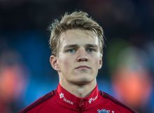 DRAMMEN, NORWAY - NOVEMBER 15: Martin Oedegaard of Norway before U-21-UEFA European Championship Play-Off Norway v Serbia at Marienlyst Stadion on November 15, 2016 in Drammen, Norway. (Photo by Trond Tandberg/Getty Images)