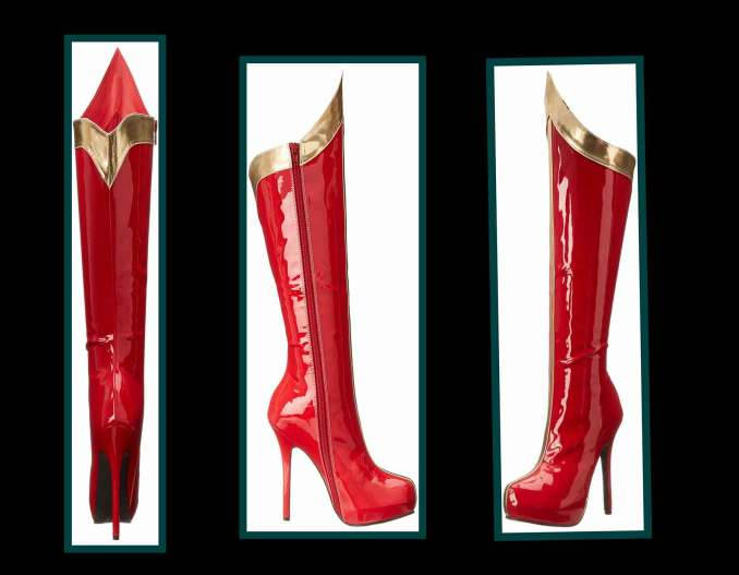 red-gold-boots