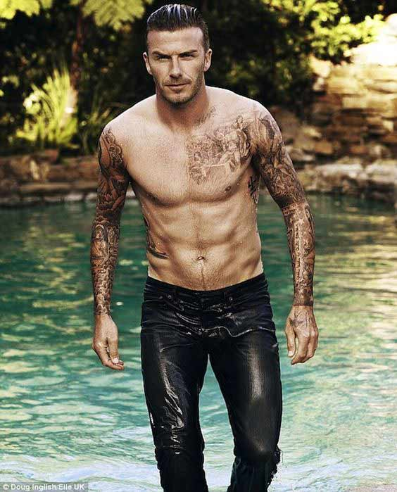 David Beckham Tattoos Idea Costume