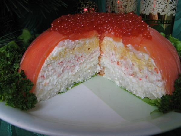 Салатные торты фото