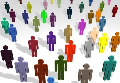Multi coloured people