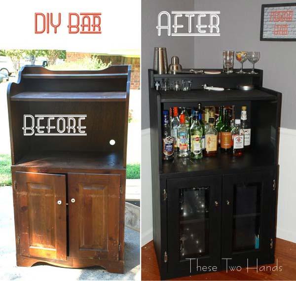 amenajarea unui mini bar 21 de idei creative diy. Black Bedroom Furniture Sets. Home Design Ideas