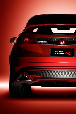 Honda Civic Type R Rear iPhone Wallpaper | iDesign iPhone