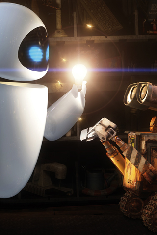 Wall E & Eve iPhone Wallpaper | iDesign iPhone