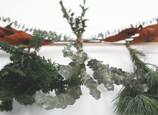 DIY Modern Holiday Garland by Idle Hands Awake