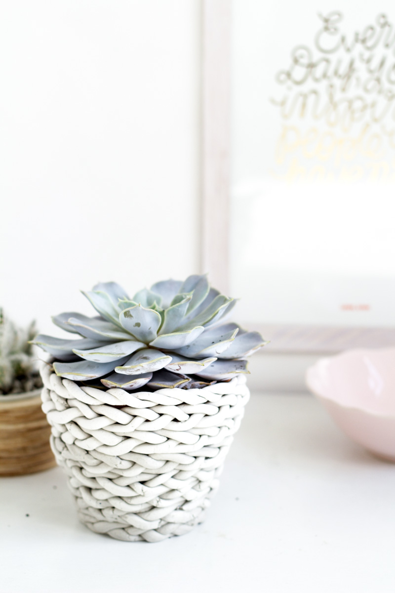 Fall For DIY plaited planter