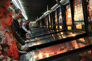 iecn photo/yazmin alvarez  A new world record was set Jan. 17 at the first-ever Arcade Expo in Banning for most people playing pinball.