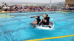 iecn photo/yazmin alvarez&lt;br /&gt;<br /> Clement Middle School eighth graders participate in the school's annual cardboard boat races.