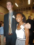 Photo/Harvey M. Kahn<br /><br /><br /><br /><br /><br /><br /><br /><br /><br /><br /> 2015 Ken Hubbs Award winning girl athlete of the year Margaux Jones pictured with Redlands High School classmate Cal Mende, who was the school's Hubbs Award by nominee.