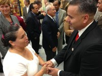 iecn photo/yazmin alvarez<br /><br /><br /><br /><br /><br /><br /><br /><br /><br /><br /><br /> Incoming RUSD Superintendent Dr. Cuauhtémoc Avila meets community members.