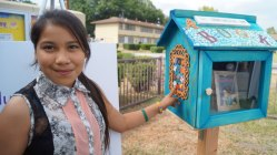 courtesy photo/boys and girls clubs of redlands-riverside&lt;/p&gt;&lt;br /&gt;&lt;br /&gt;&lt;br /&gt;&lt;br /&gt;<br /> &lt;p&gt;Club member Larissa Lugo helped paint the wooden coins on the side of the new Little Free Library at the Club's Waterman Gardens site in San Bernardino.