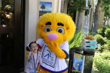 courtesy photos/lluch&lt;br /&gt;&lt;br /&gt;<br /> Valerie Tizcareno, 4, a patient at Loma Linda University Children's Hospital celebrates Luke the Lion's birthday June 15.
