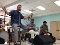 iecn photo/yazmin alvarez<br />  Johnny Boyd offered children a chance to play with his during a children's workshop at the Redlands Community Center. The workshop is part of the Redlands Bowl Summer Music Series.