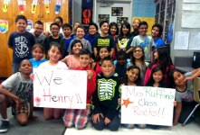 courtesy photo/rusd Henry Elementary students celebrate their teacher's success after being named in the Renaissance National Honor Roll.