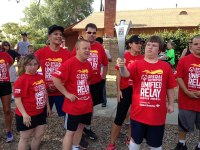 iecn photo/yazmin alvarez The Redlands High School Torch Runners participated in Special Olympics Unified Relay Across America Torch Run July 9, running with the Flame of Hope.