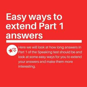 Easy ways to extend Part 1