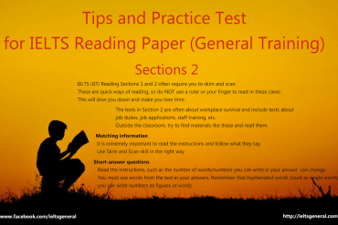 ieltsgeneral.com - tips and practice test for IELTS General Reading Section 2