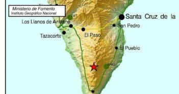Вчера снова слегка тряхнуло остров La Palma