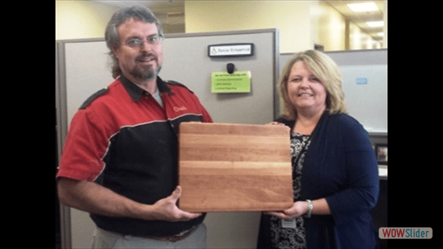 Butcher Block Giveaway at an Expo