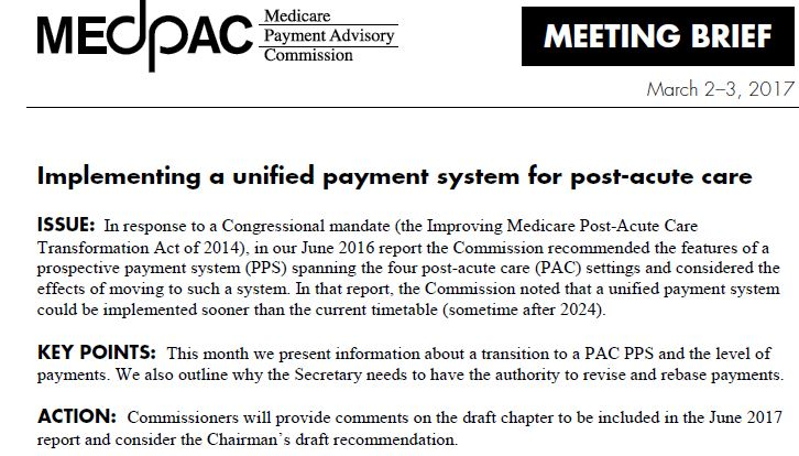 MedPac Mtg Brief for March 2 & 3, 2017