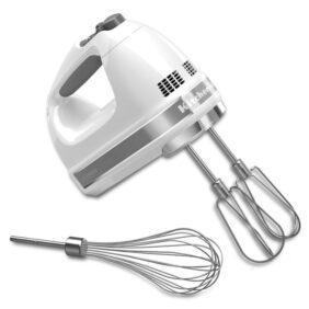 white kitchenaid hand mixer