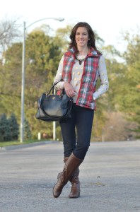 Winter Fashion :: Polka Dots and Plaid