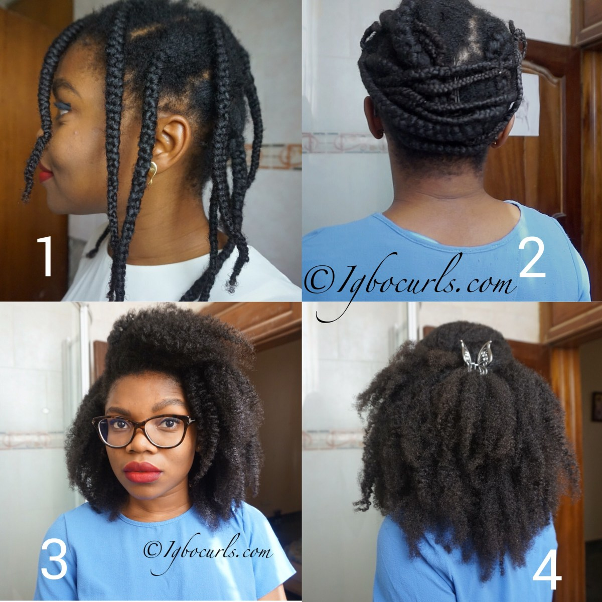 How To Stretch Natural Hair Without Heat - Braid Out