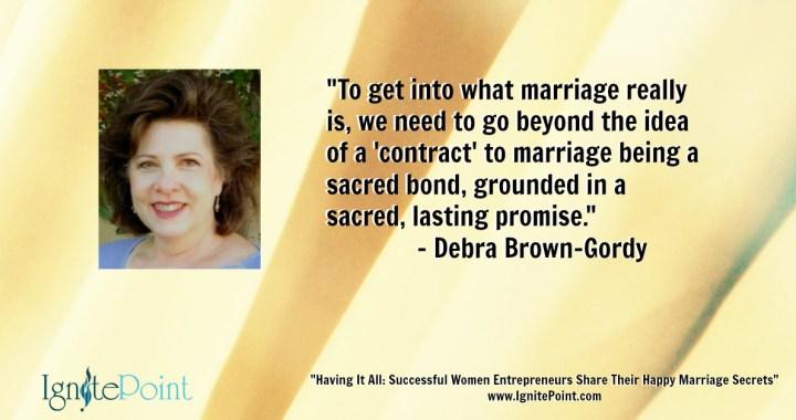 debra brown gordy defining marriage
