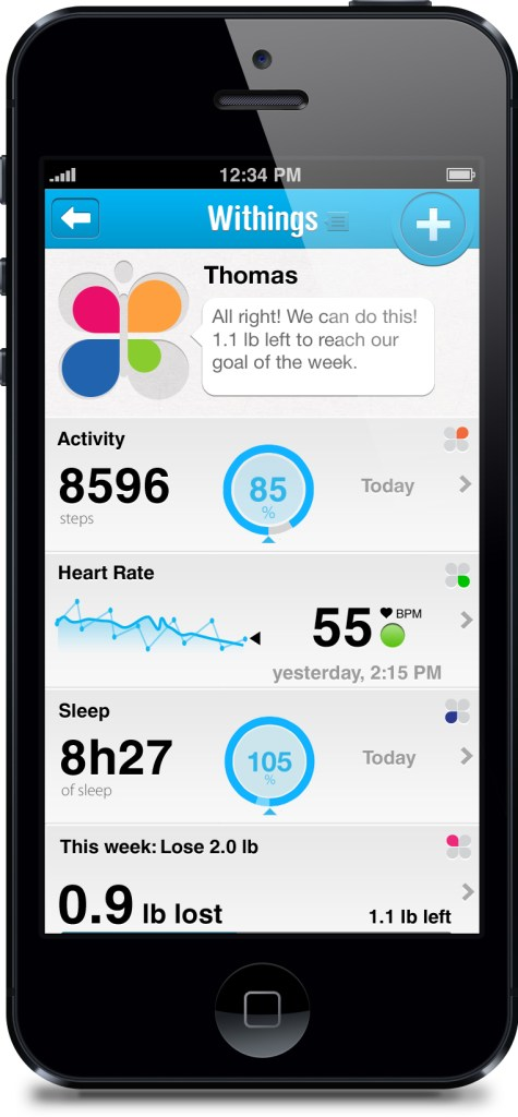 Withings Pulse iPhone Dashboard