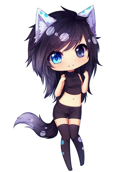 Cute Neko Anime Girl  Posters by SignatureAnime   Redbubble Cute Neko Anime Girl by SignatureAnime