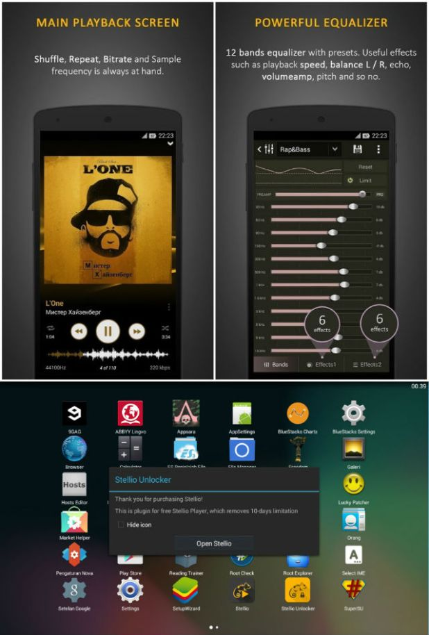 Stellio Music Player mod