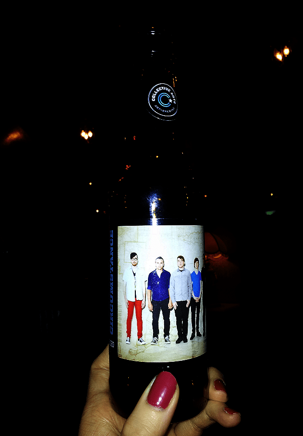 Collective Brew bottle featuring Thought Beneath Film