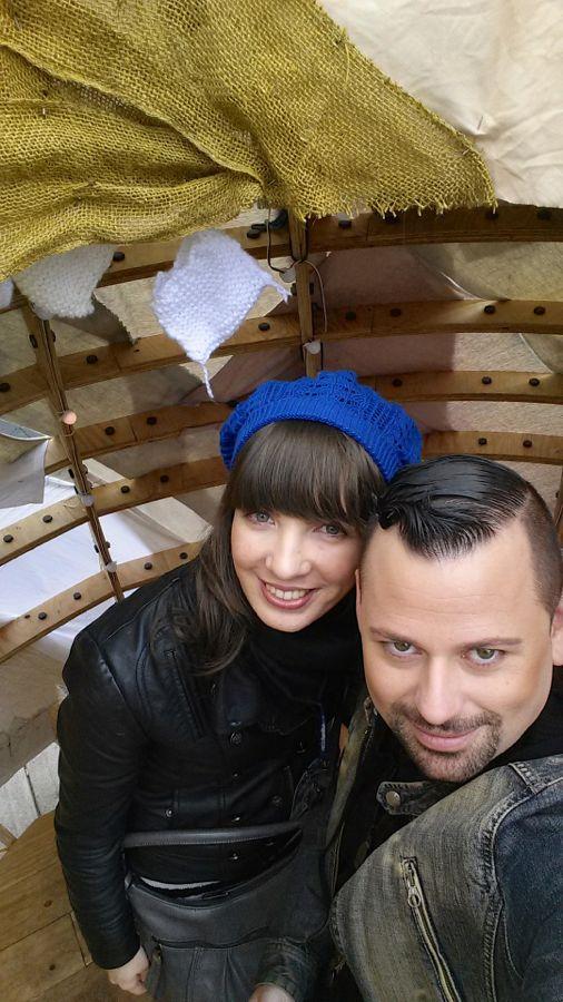 Kristin Archer and Mathieu Brazeau inside