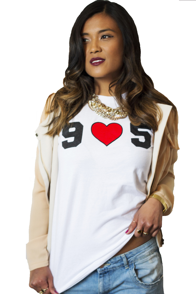 905 LOVE: I HEART HAMILTON X GIRLS WITH GUNZ TEE