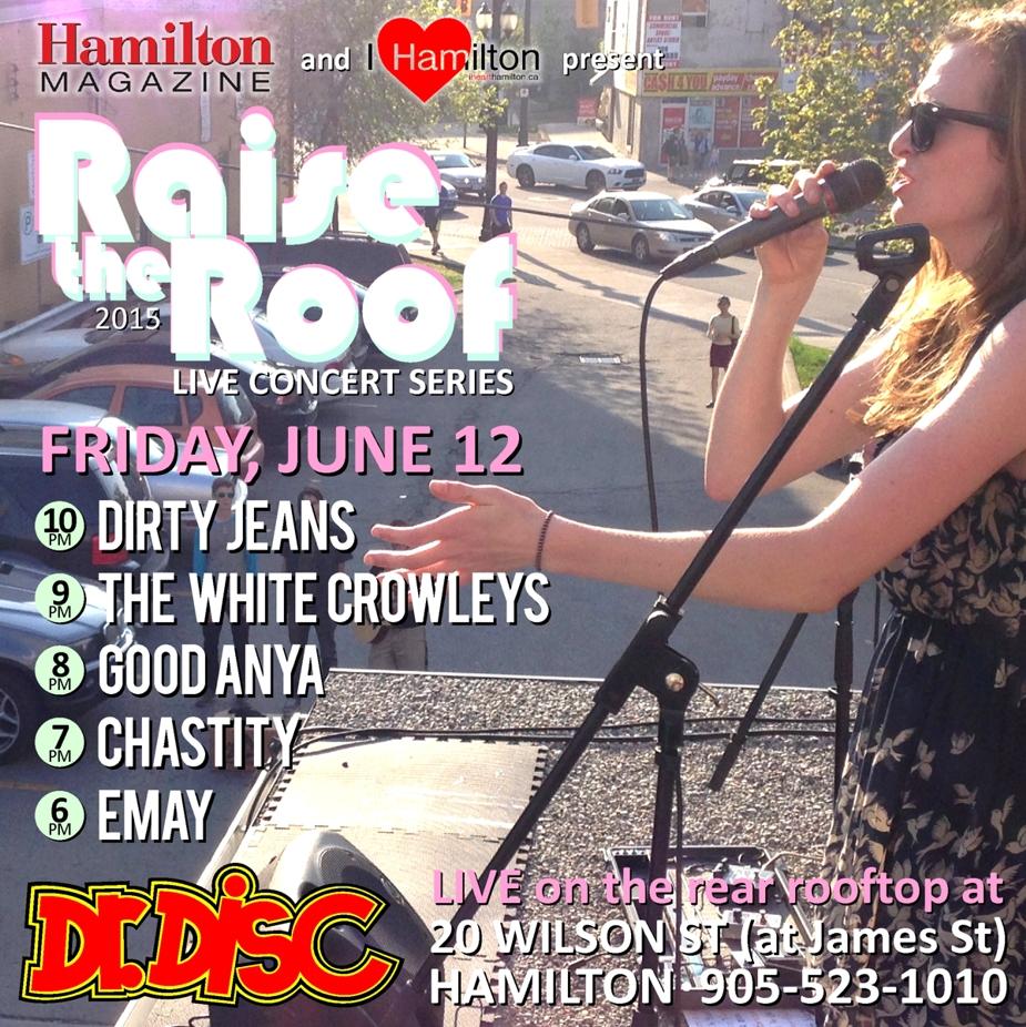 *CANCELLED* ANNOUNCEMENT: I HEART HAMILTON CO-PRESENTS RAISE THE ROOF @ DR. DISC (JUNE 12)