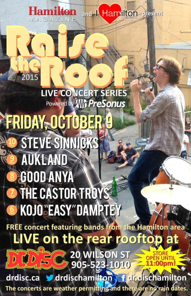I HEART HAMILTON CO-PRESENTS RAISE THE ROOF @ DR. DISC (OCTOBER 9)