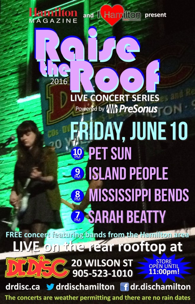 I HEART HAMILTON CO-PRESENTS RAISE THE ROOF @ DR. DISC (JUNE 10)