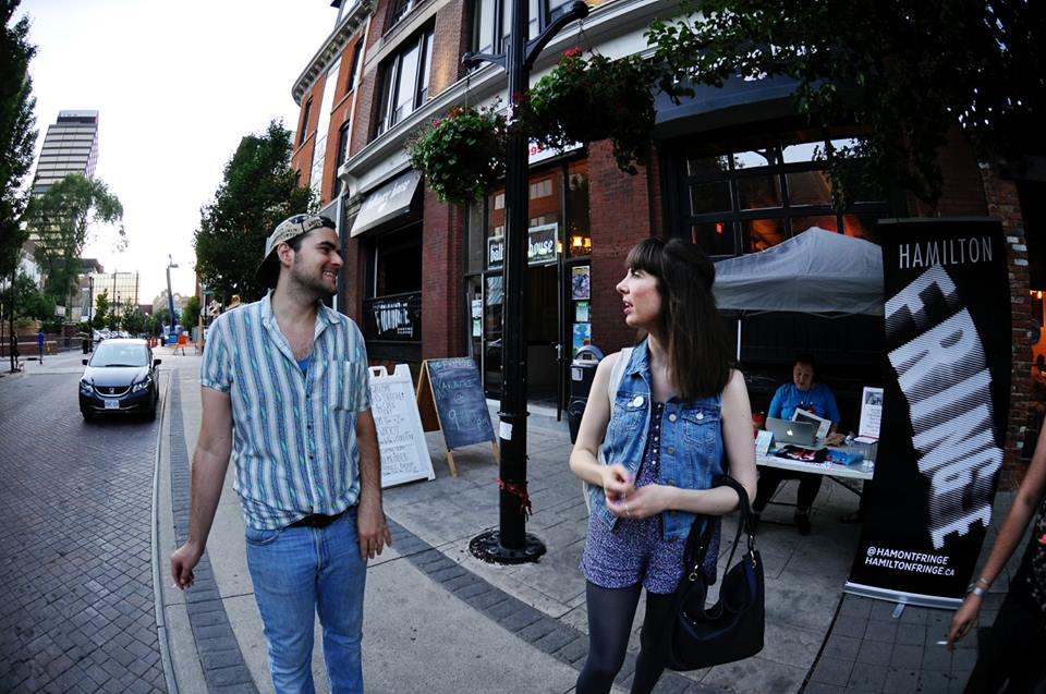 Paul Heaton and Kristin Archer outside The Baltimore House, July 2016. Photo by Lisa Vuyk