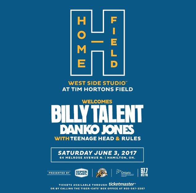 CONTEST: HOME FIELD FT. BILLY TALENT