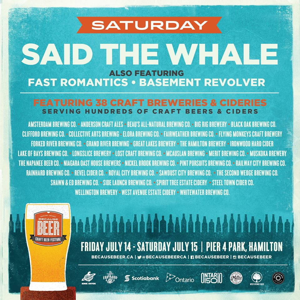 Because Beer 2017 lineup