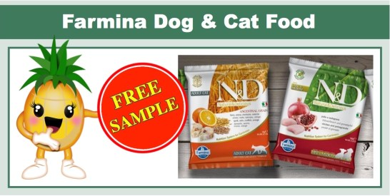 free samples of farmina dog and cat food
