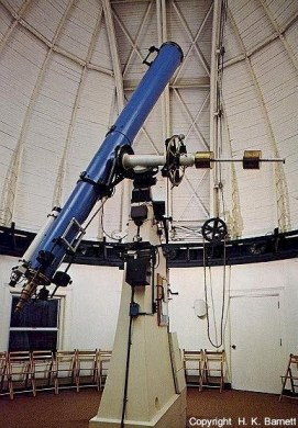 Fitz-Clark refractor telescope at the Allegheny Observatory.