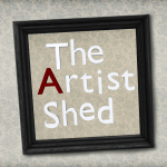 The Artist Shed Sign Texture
